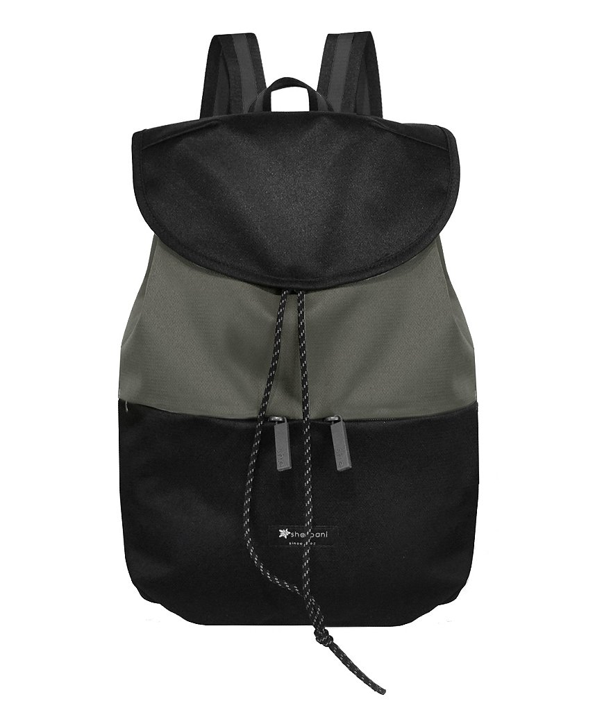 Sherpani Essentials Collection Olive Drawstring Backpack