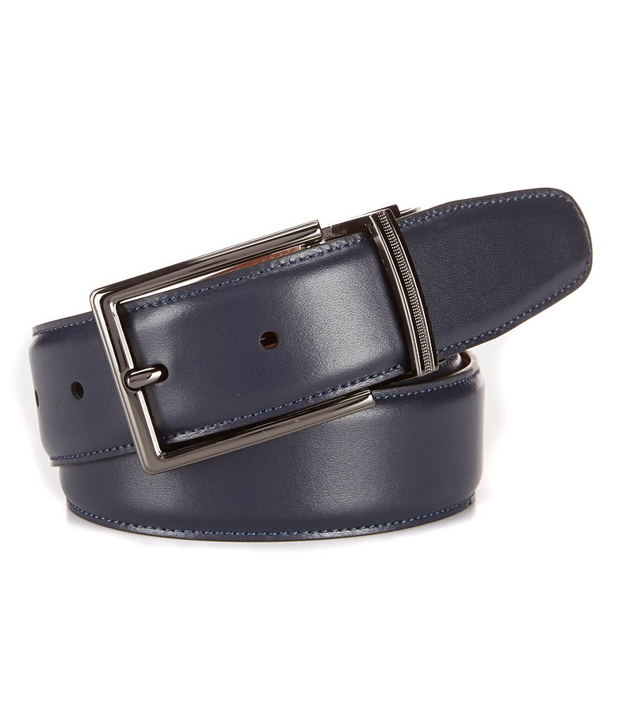 Cremieux Navy Reversible Leather Belt