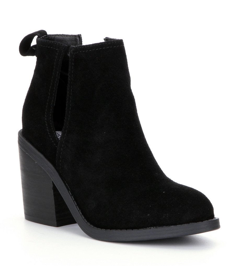 Steve Madden Sharini Side Cutout Suede Booties