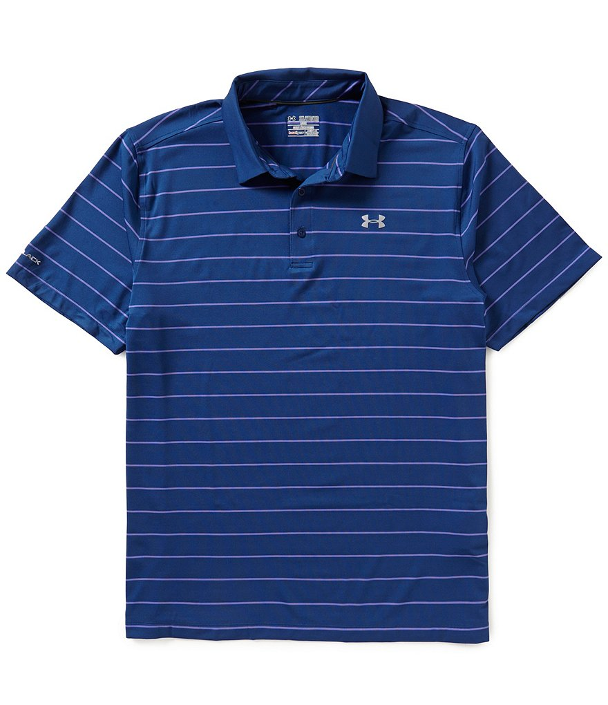 Under Armour Short-Sleeve Coldblack Swing Plane Stripe Polo Shirt
