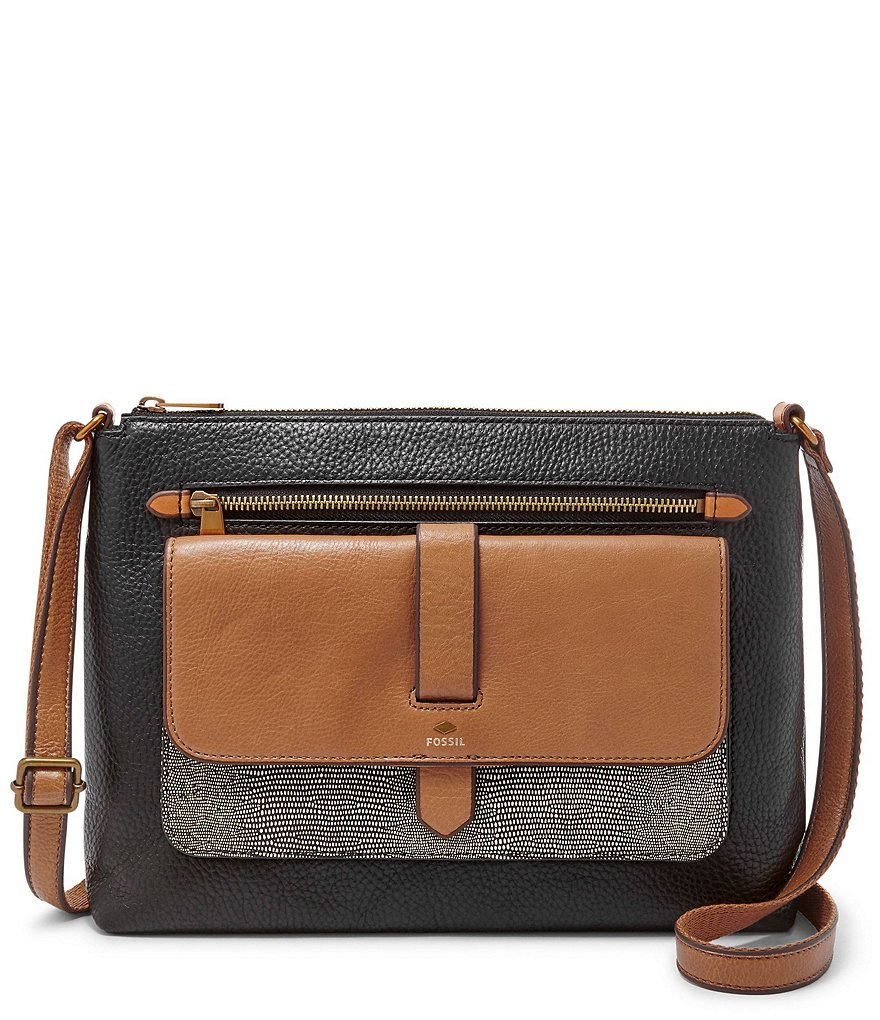 Fossil Kinley Color Block Cross-Body Bag