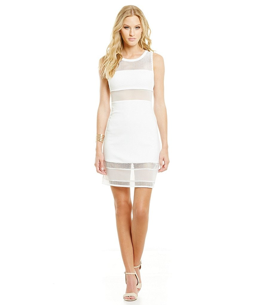 French Connection Manhattan Mesh Overlay Dress