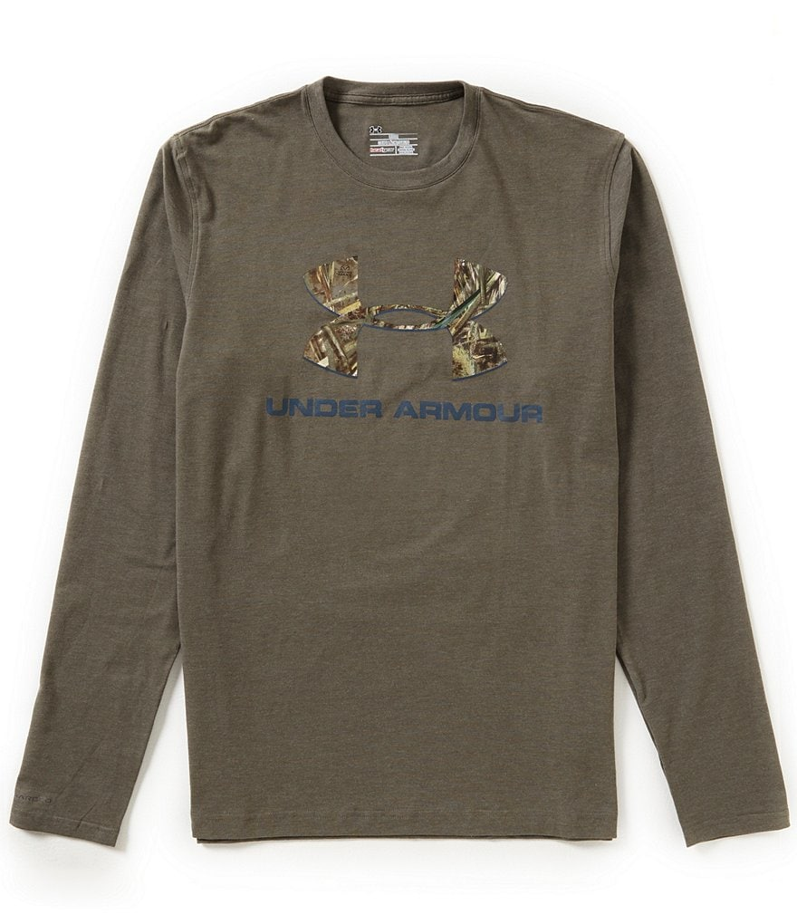 Under Armour Hunt Long-Sleeve Camo Fill Logo Graphic Tee