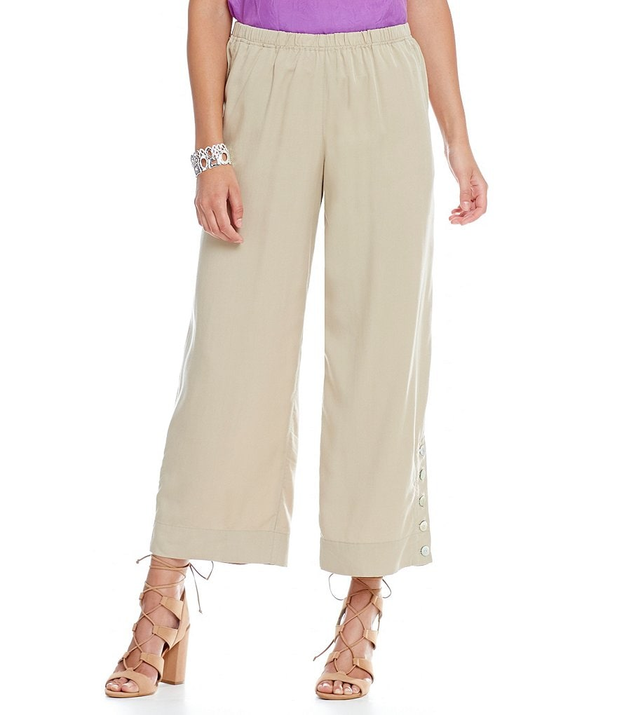 John Mark Flat Front Wide Leg Pants