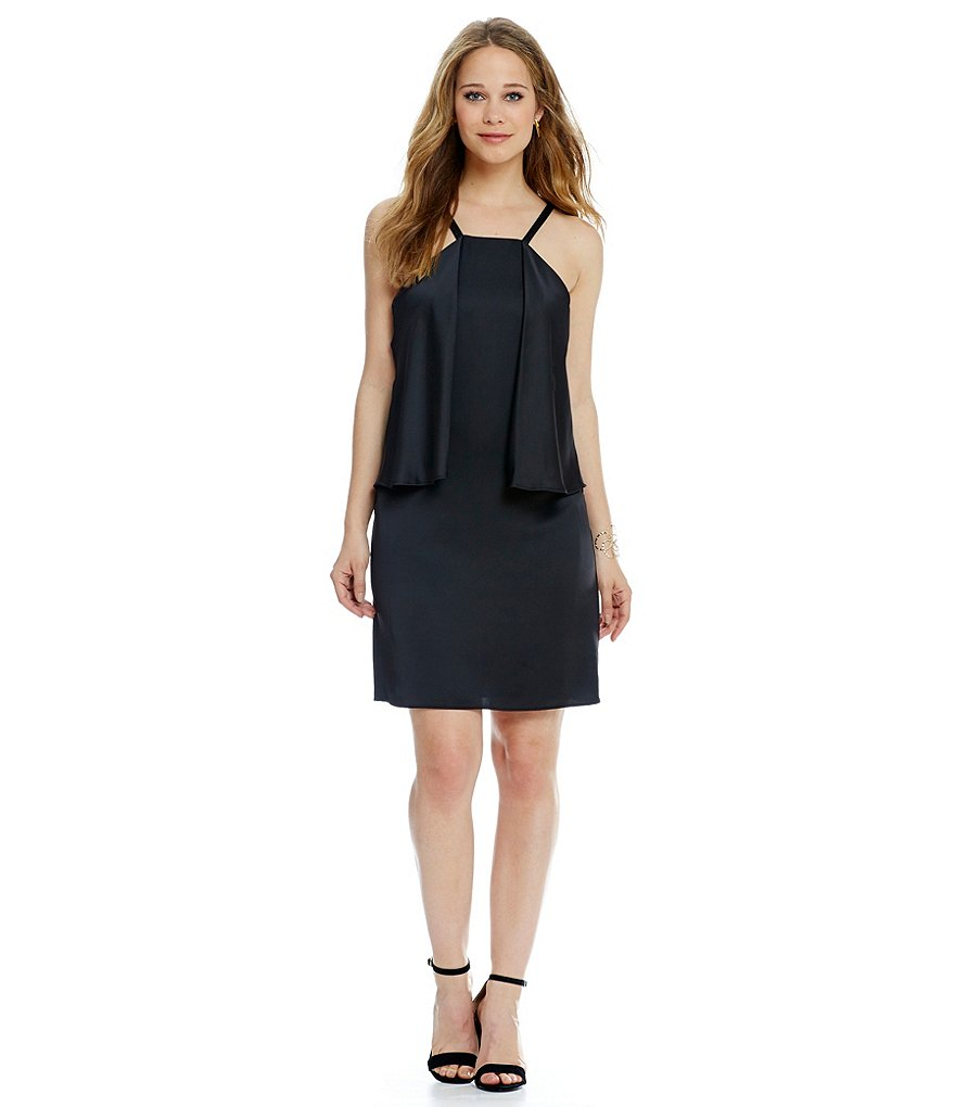 Laundry By Shelli Segal Popover Ruffle Slip Dress