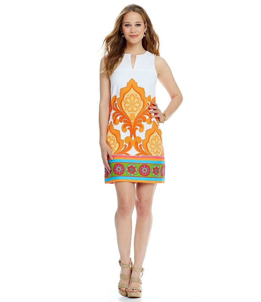 Laundry By Shelli Segal Orange Door Dress
