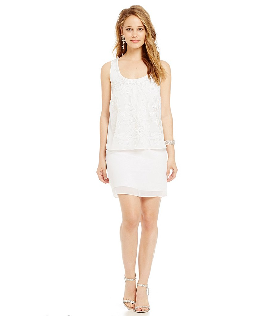 Laundry By Shelli Segal Popover Embellished Dress