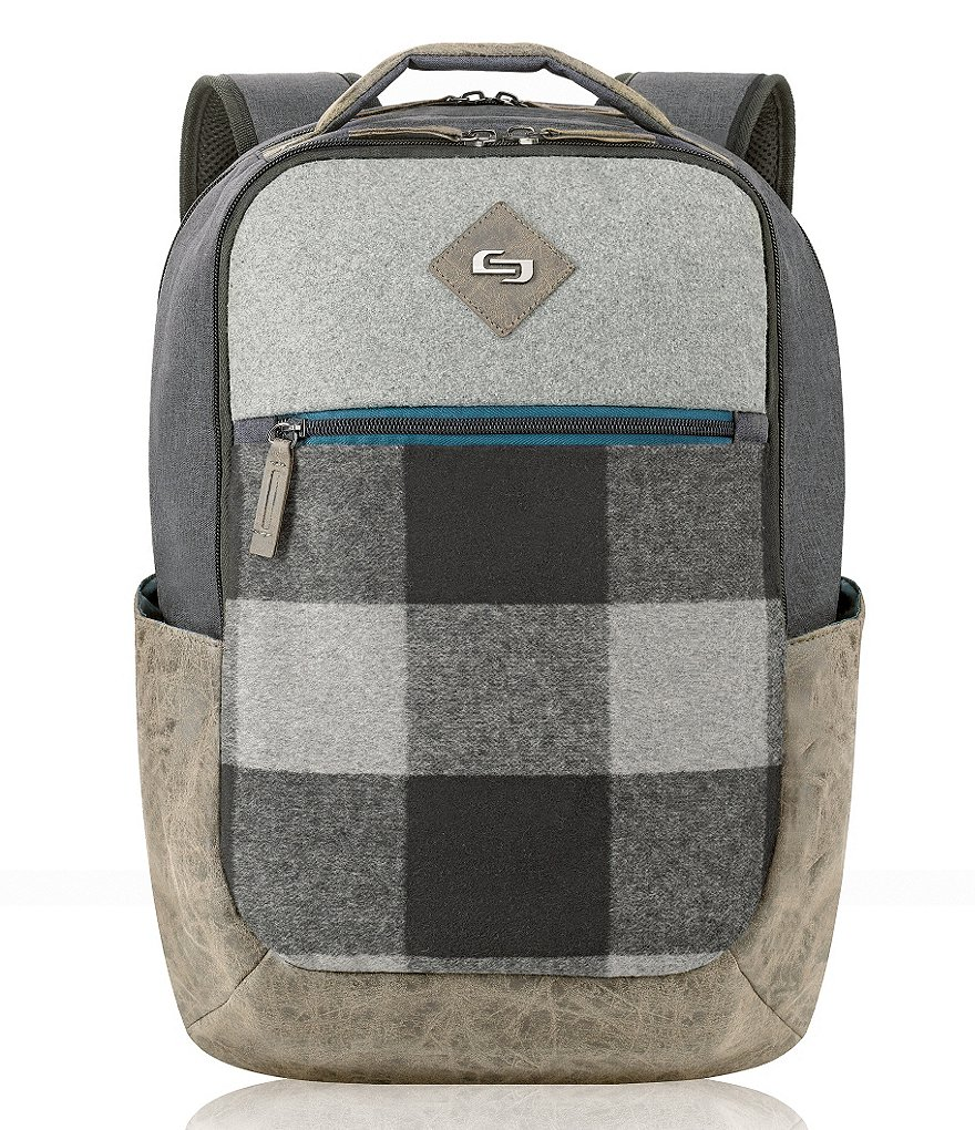 Solo Nomad Plaid Padded Laptop Backpack