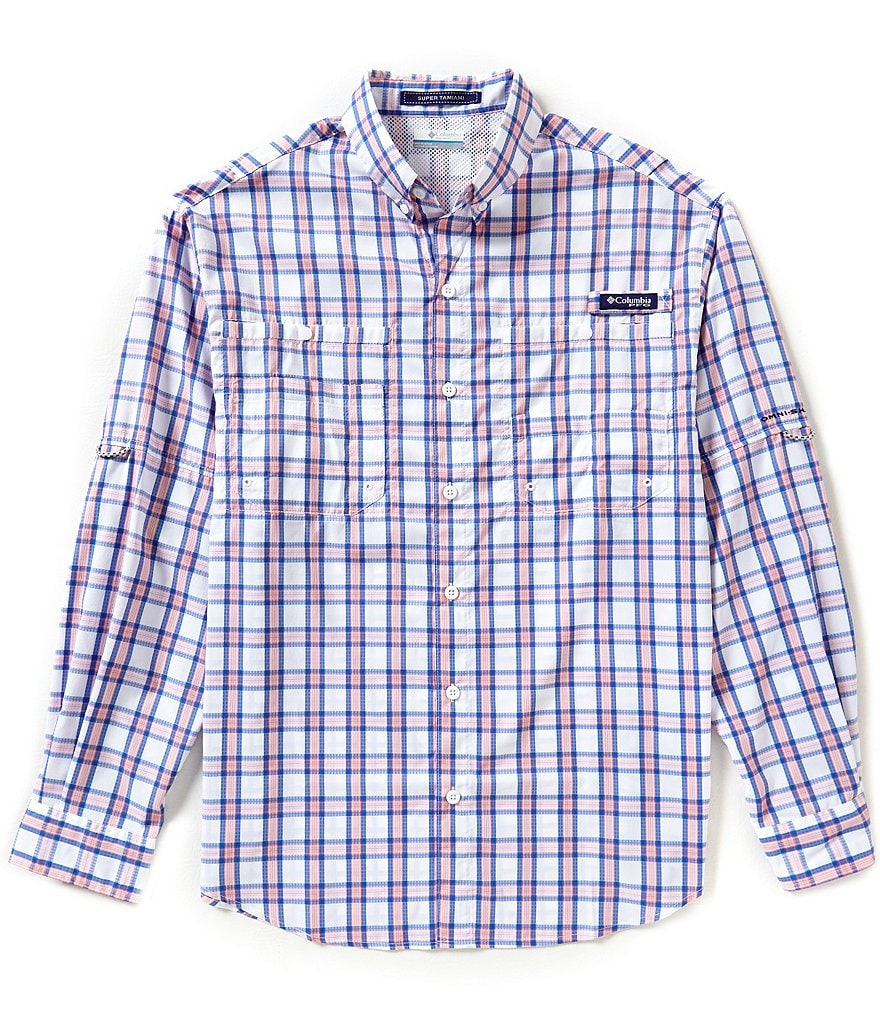 Columbia PFG Super Tamiami™ Yarn-Dyed Plaid Shirt