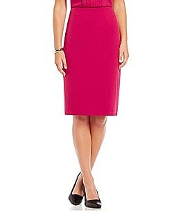 Kasper Stretch Crepe Pencil Skirt Image