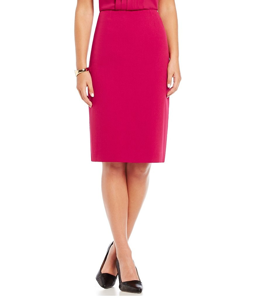 Kasper Stretch Crepe Pencil Skirt
