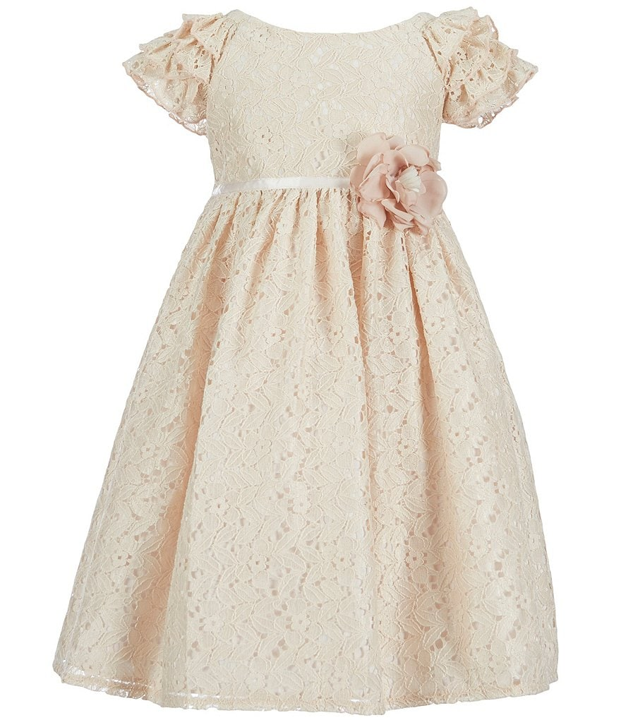 Laura Ashley London Little Girls 2T-6X Ruffle-Sleeve Lace Dress