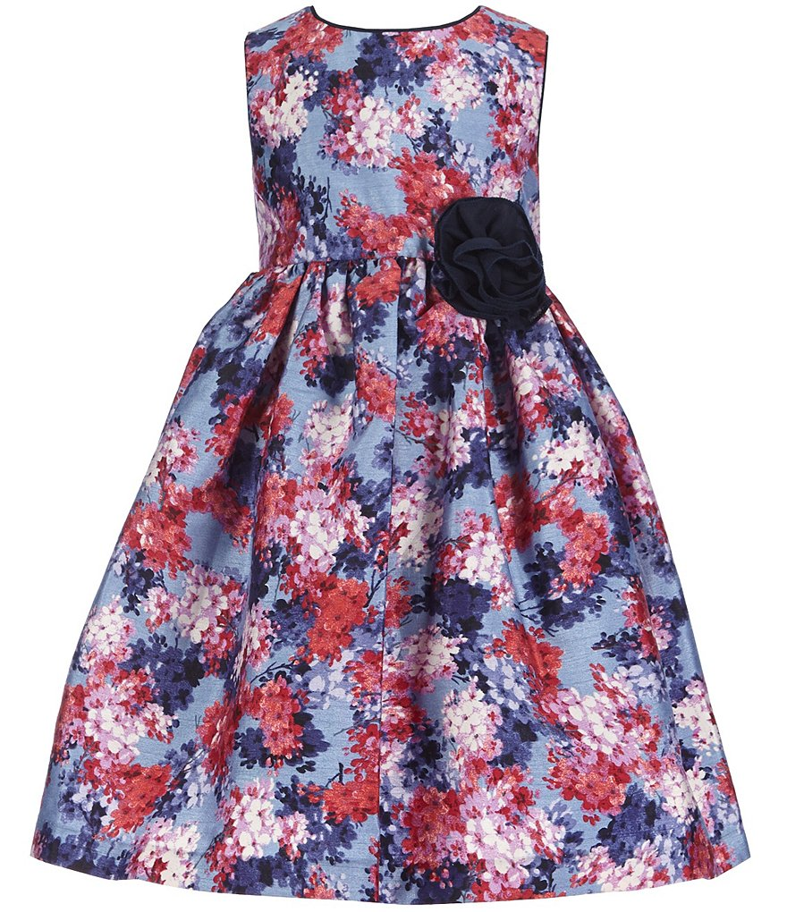Laura Ashley London Little Girls 2T-6X Sleeveless Floral Print Dress