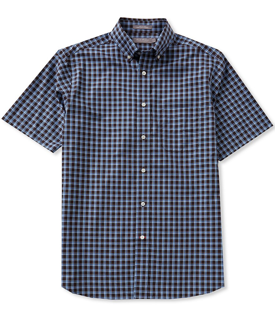 Daniel Cremieux Signature Short-Sleeve Checked Shirt