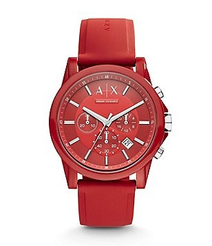 AX Armani Exchange Active Silicone Strap Nylon Chronograph Watch