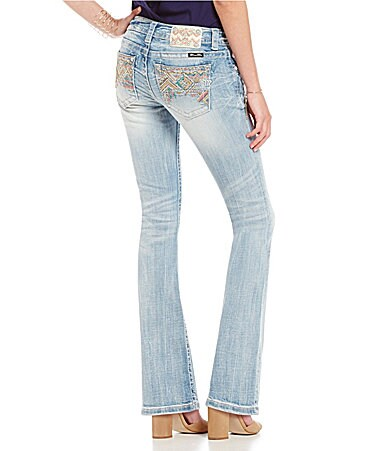 Miss Me Tribal Embellished Bootcut Jeans