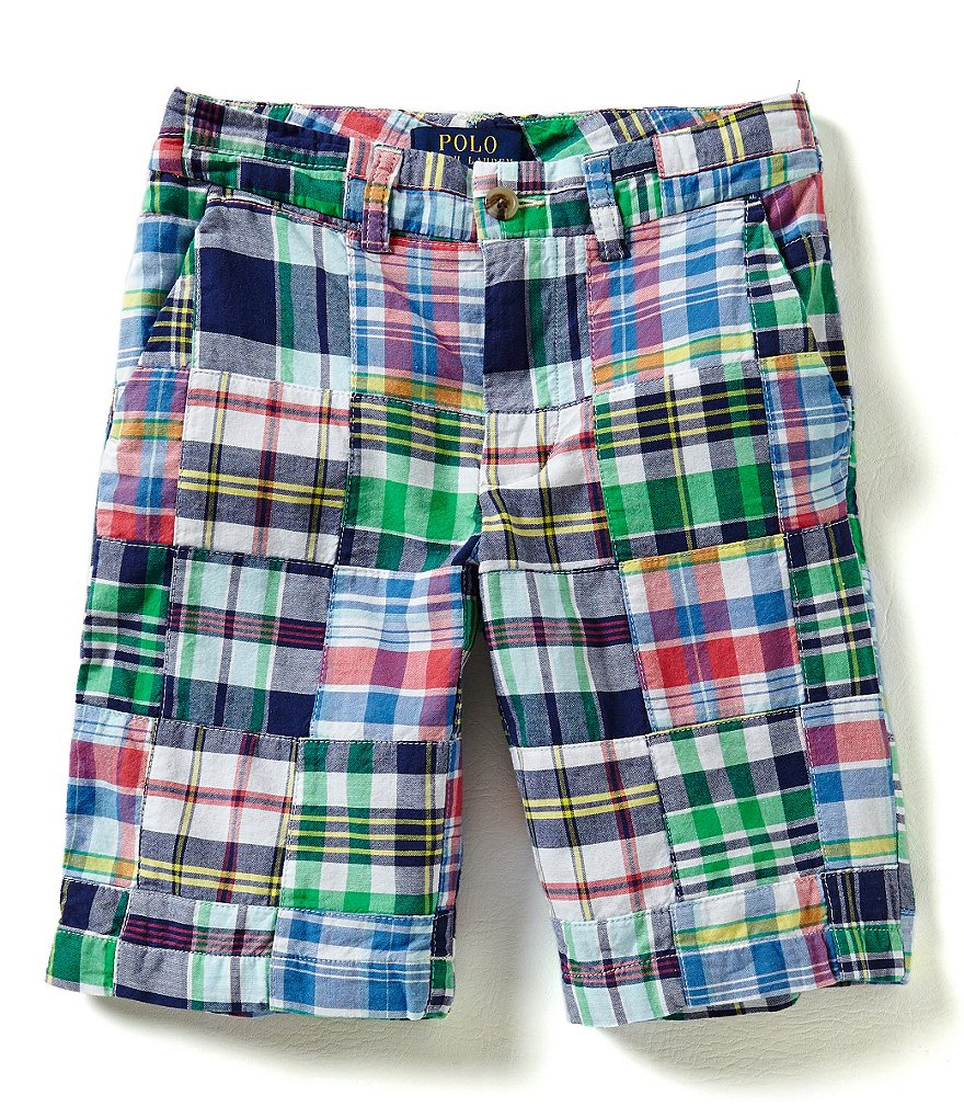 Ralph Lauren Childrenswear Little Boys 2T-7 Patchwork-Pattern Shorts