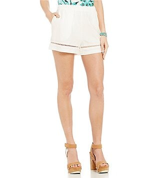 BB Dakota Lace Trim Pull-On Shorts