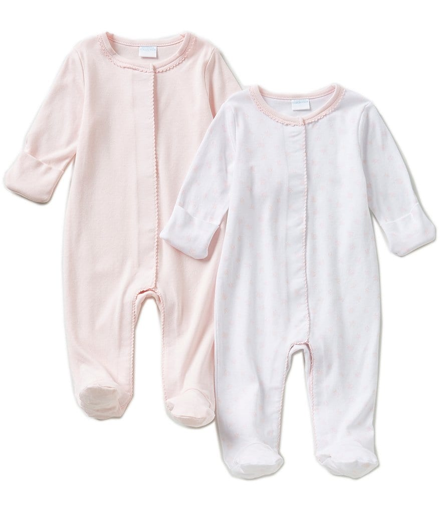 Edgehill Collection Newborn-6 Months 2-Pack Footed Coveralls