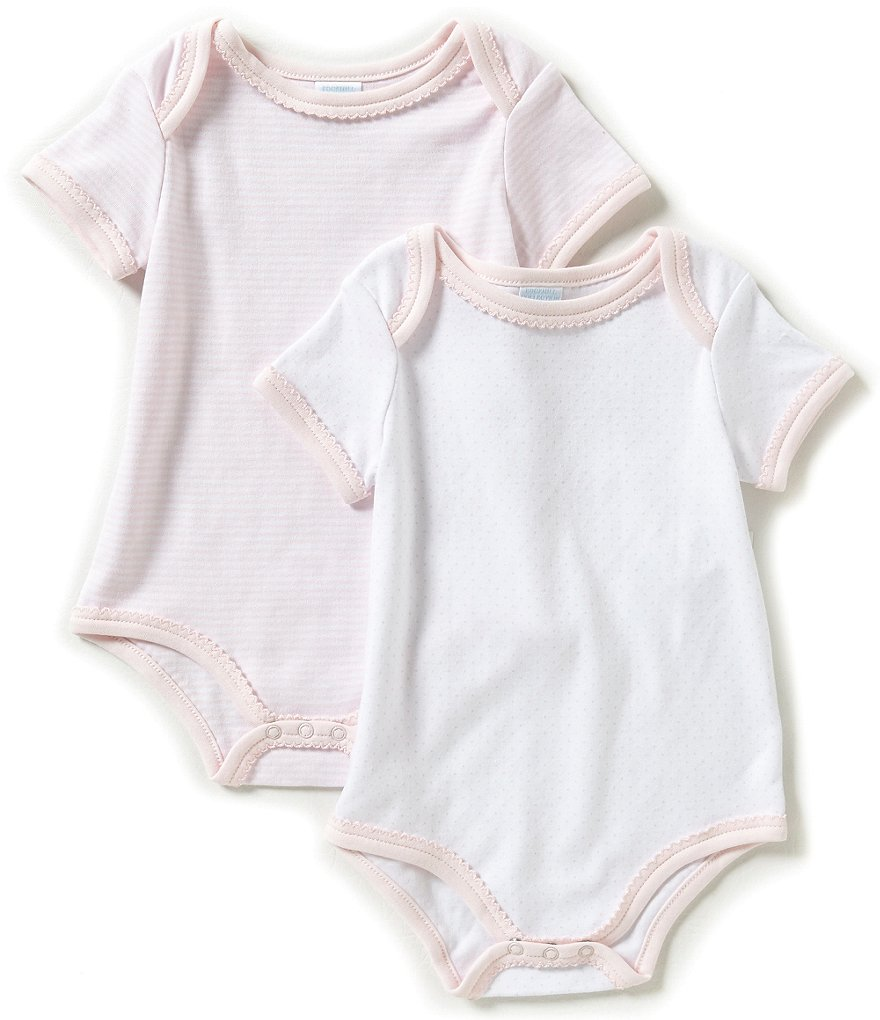 Edgehill Collection Baby Girls Newborn-6 Months 2-Pack Bodysuit