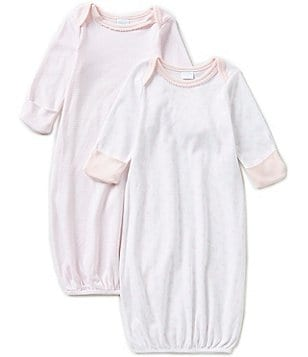 Edgehill Collection Baby Girls Newborn-6 Months 2-Pack Gown