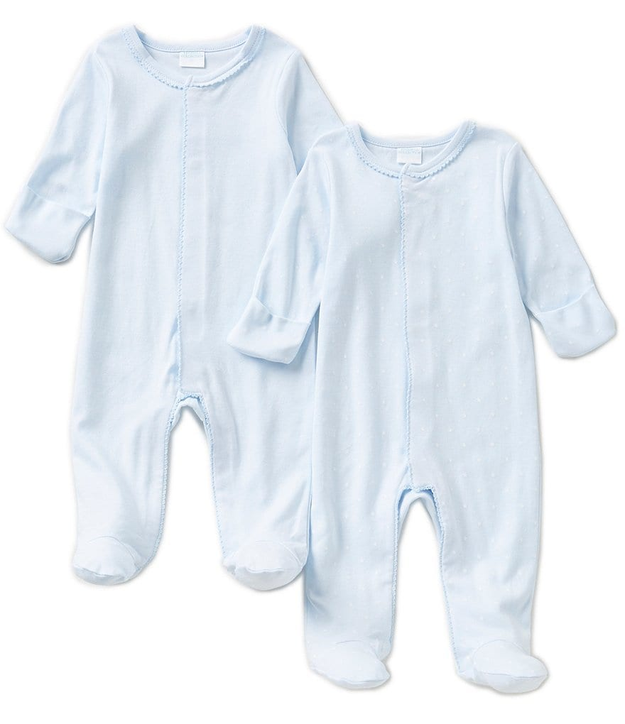 Edgehill Collection Baby Boys Newborn-6 Months Footed Coveralls 2-Pack