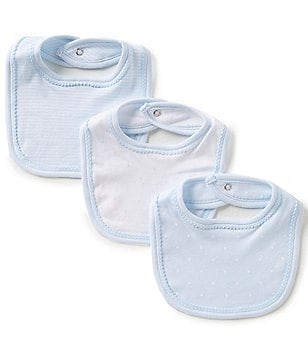 Edgehill Collection Baby Boys 3-Pack Bibs
