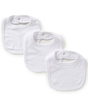 Edgehill Collection 3-Pack Pima Cotton Bibs