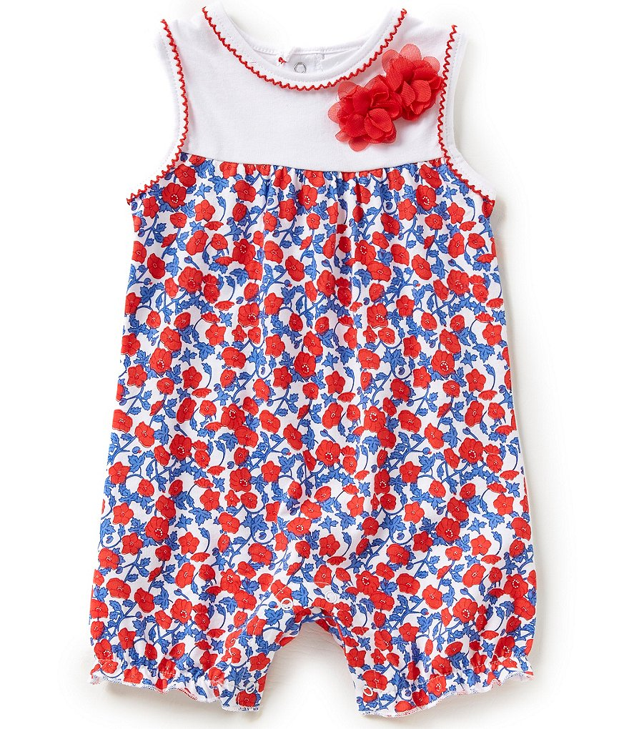 Starting Out Baby Girls Newborn-9 Months Poppy Flower Printed Romper