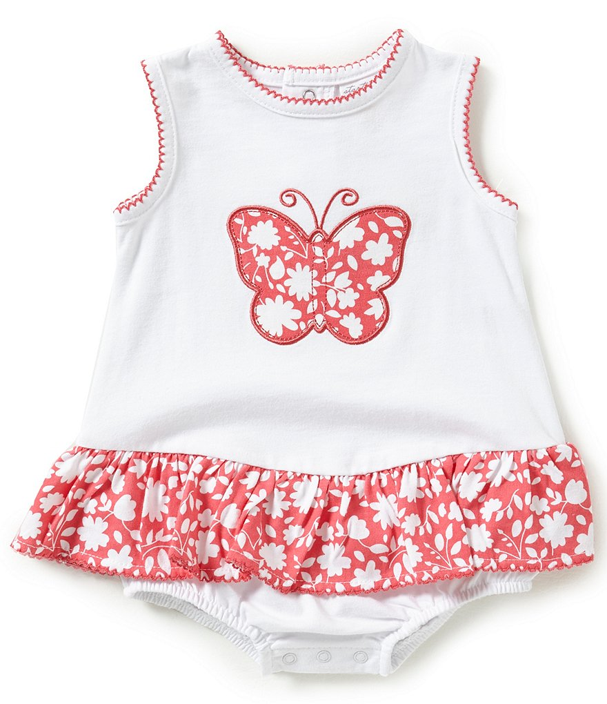 Starting Out Baby Girls Newborn-9 Months Butterfly-Appliqued Romper