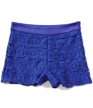 Marciano Big Girls 7-16 Rio Faux-Leather Lace Shorts