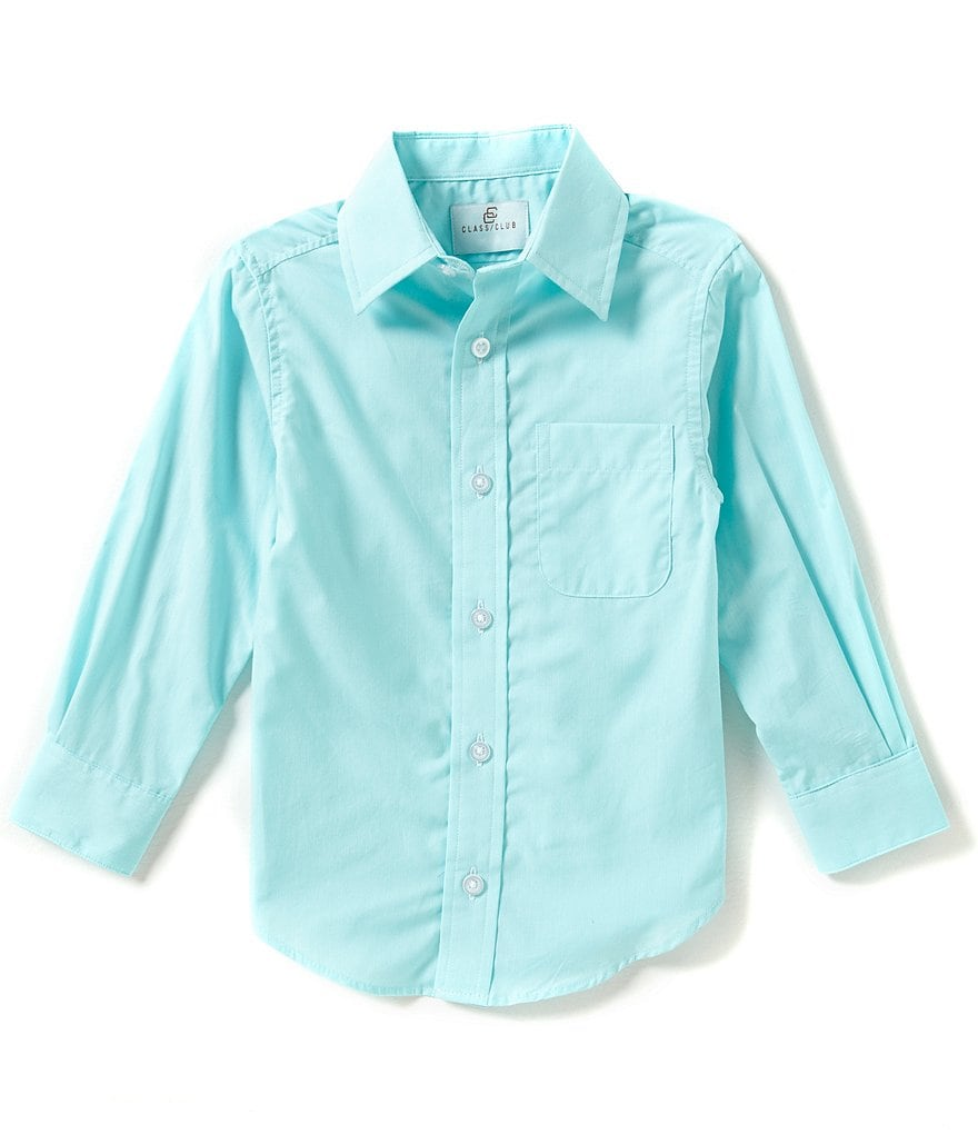 Class Club Little Boys 2T-7 Solid Woven Shirt