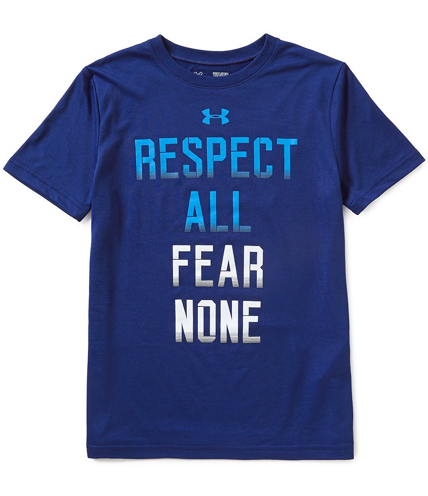 Under Armour Big Boys 8-20 Respect All Fear None Graphic Short-Sleeve Tee