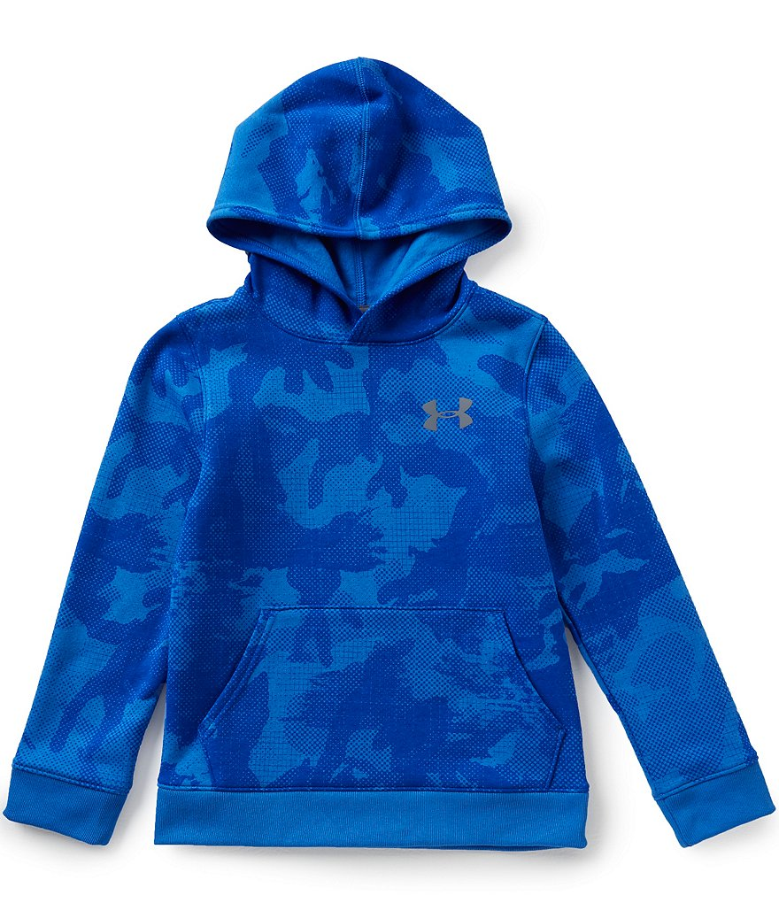 Under Armour Big Boys 8-20 Sportstyle Camouflage-Printed Cotton-Blend Fleece Hoodie