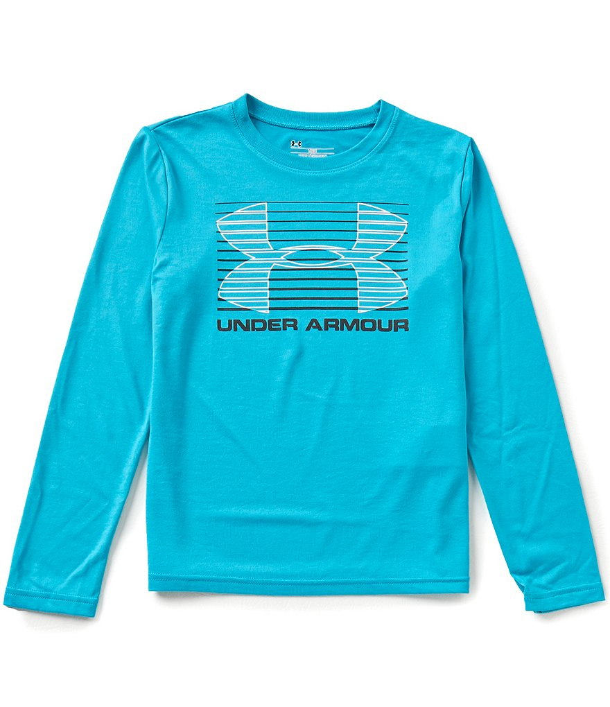 Under Armour Big Boys 8-20 Breakthrough Logo Long-Sleeve Tee