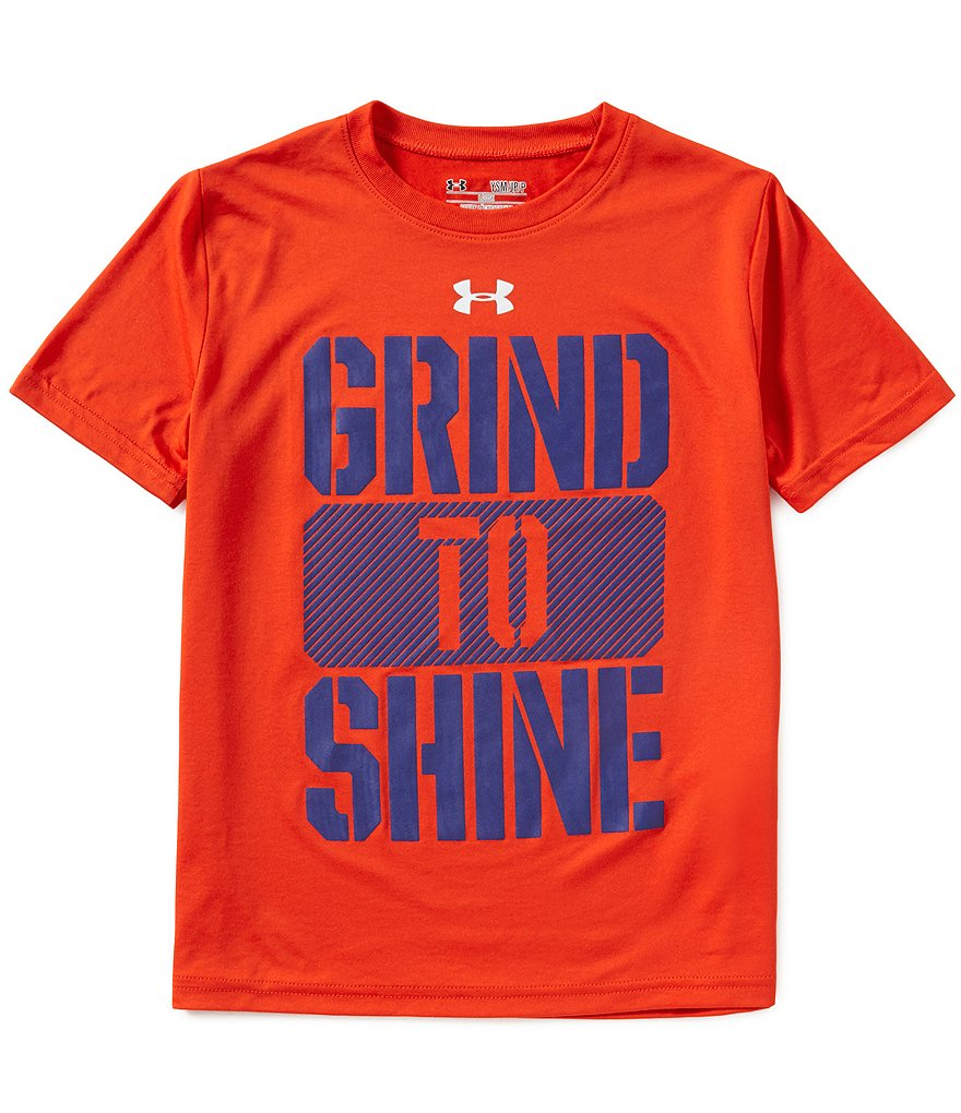Under Armour Big Boys 8-20 Grind To Shine Short-Sleeve Tee