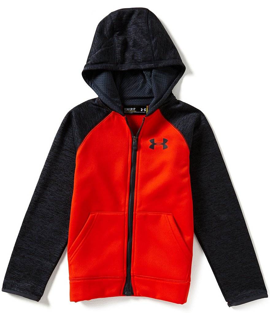 Under Armour Big Boys 8-20 Armour Fleece Storm Magzip Color Block Hoodie
