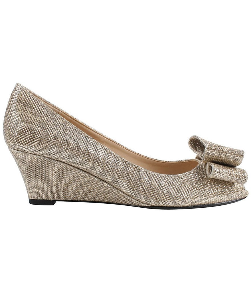 J. Renee Blare Peep Toe Bow Wedges