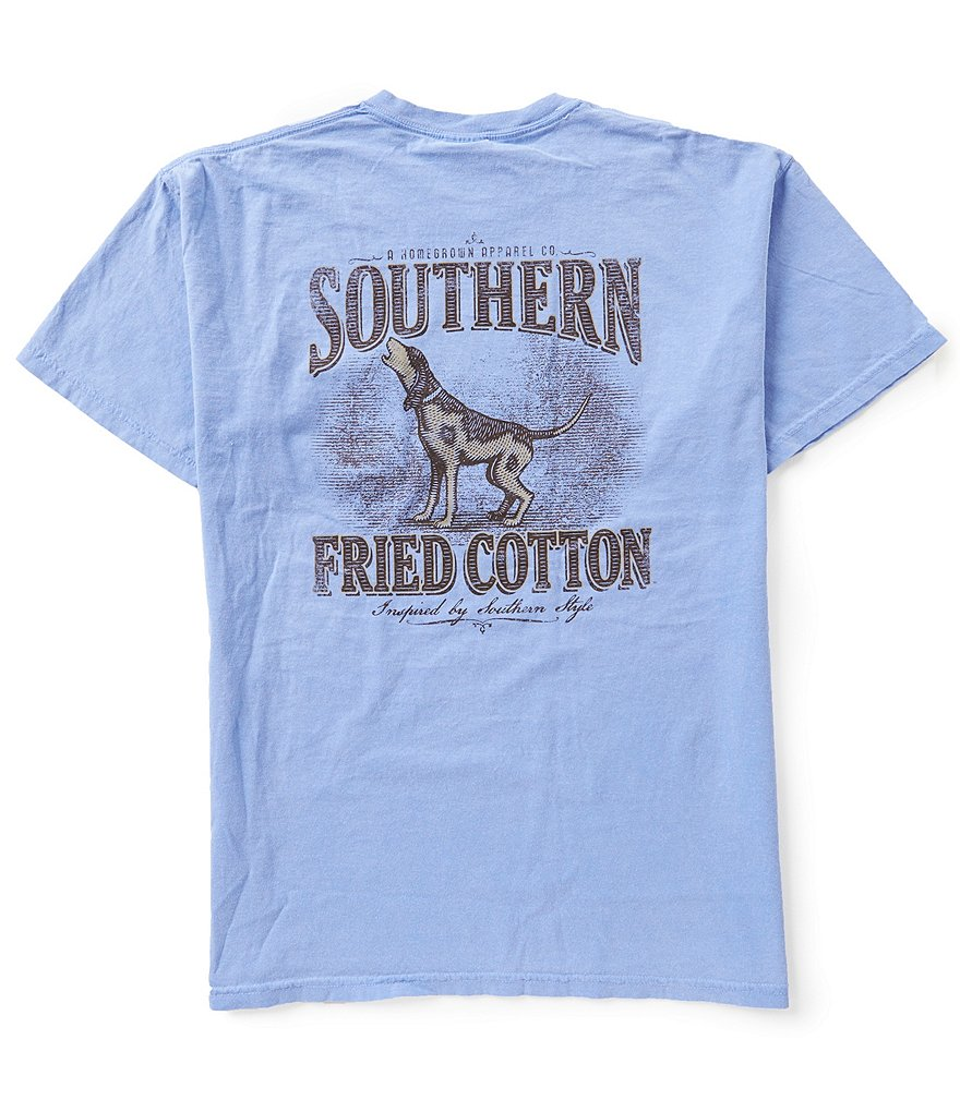 Southern Fried Cotton Mens Howling In Style Pocket Graphic Tee