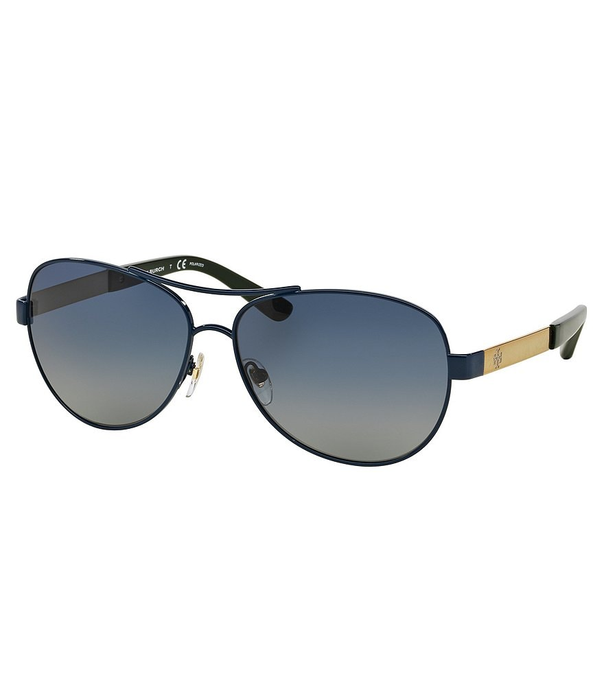 Tory Burch Polarized Aviator Sunglasses
