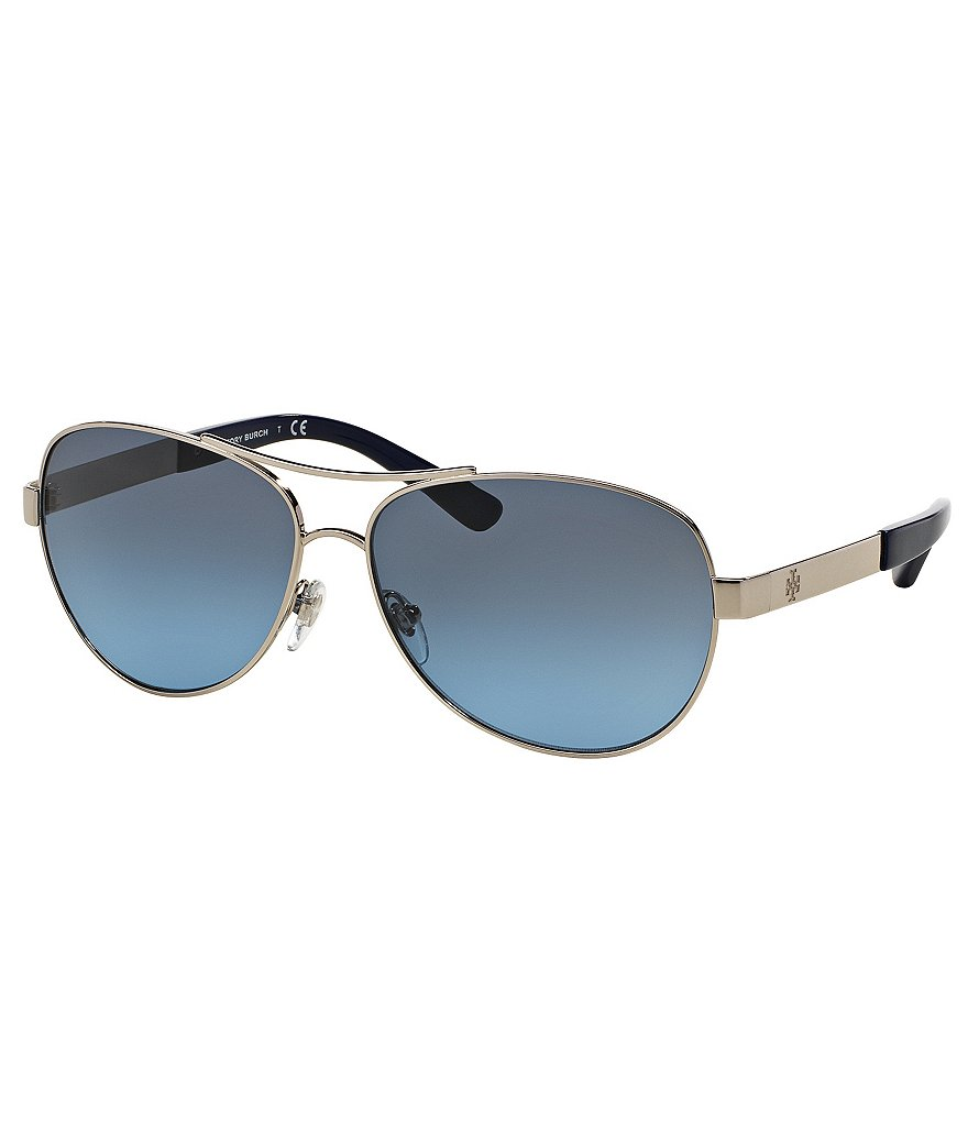 Tory Burch Classic Aviator Sunglasses