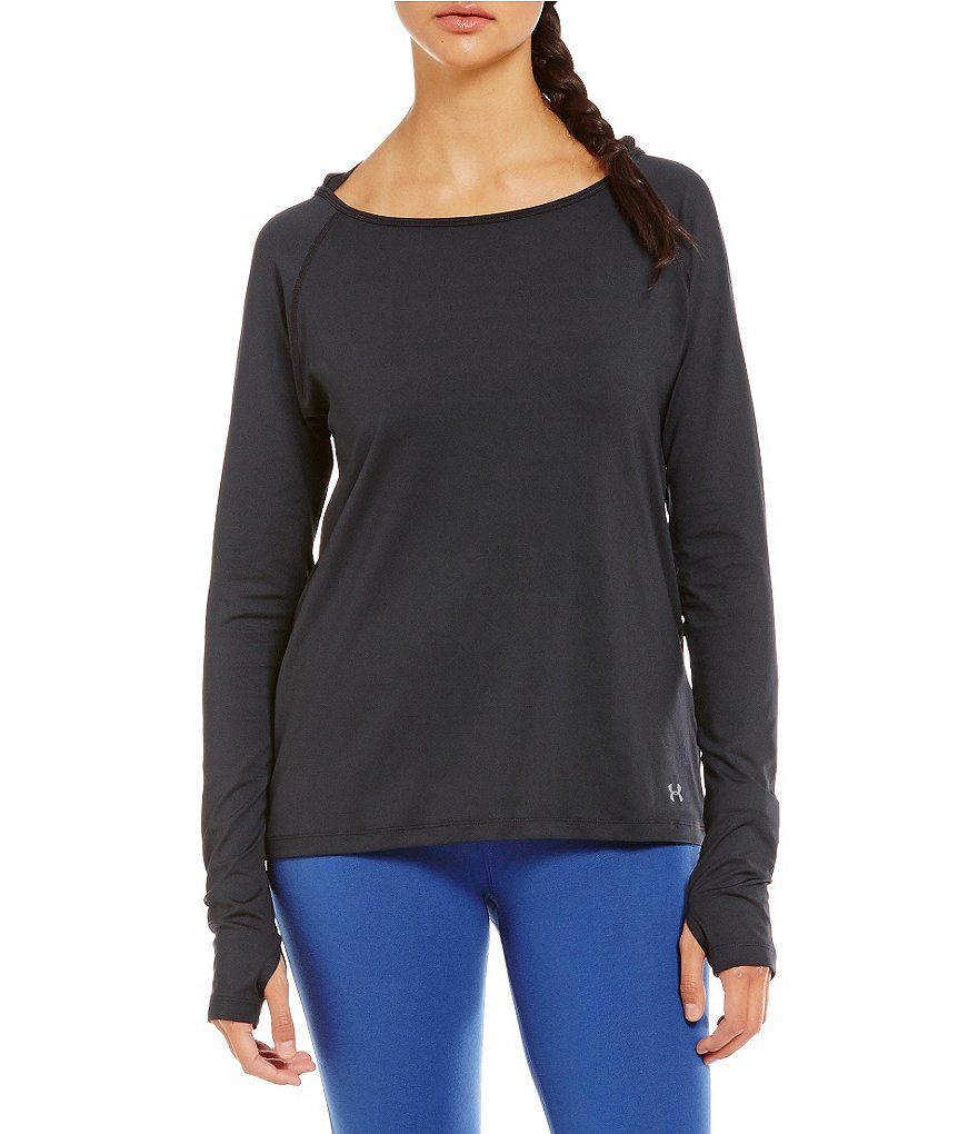Under Armour Swing Keyhole Long Sleeve Tee
