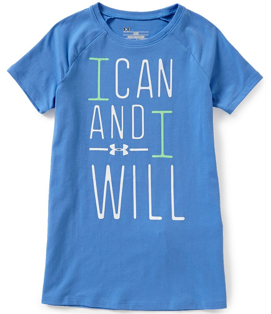 Under Armour Big Girls 7-16 I Can And I Will Short-Sleeve Tee