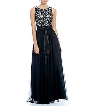 Jessica Howard Sleeveless Inset Waist Shirred Skirt Dress