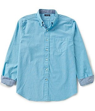 Nautica Long-Sleeve Solid Oxford Shirt