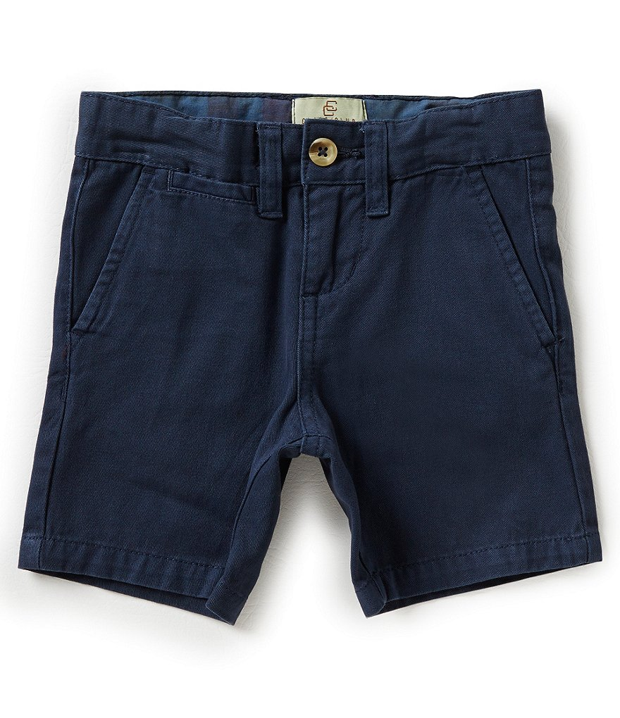 Class Club Little Boys 2T-7 Garment Dyed Flat Front Shorts