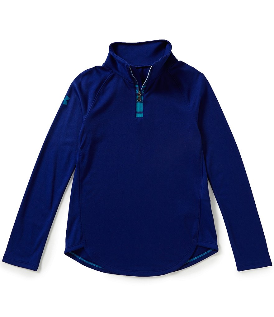 Under Armour Big Girls 7-16 Tech 1/4-Zip Long-Sleeve Tee