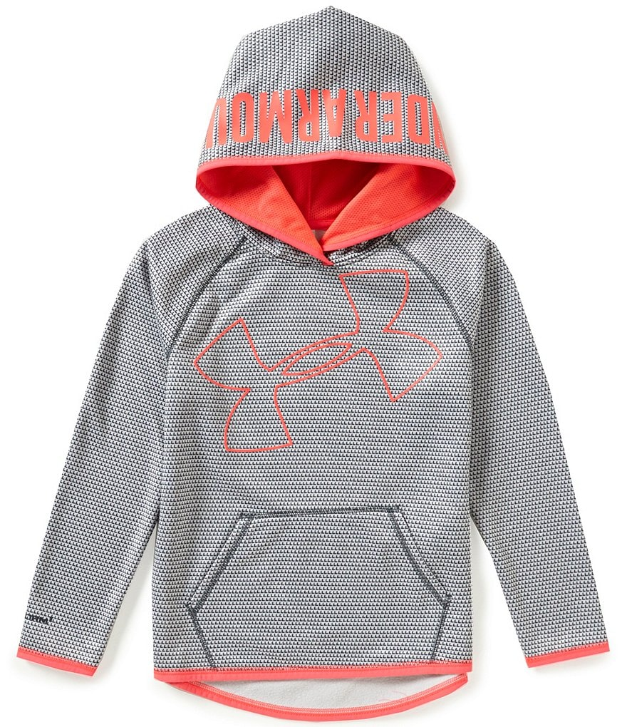 Under Armour Big Girls 7-16 Storm Armour Fleece Novelty Big Logo Hoodie