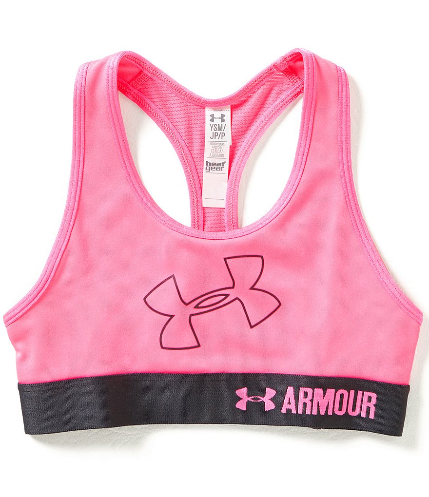 Under Armour Big Girls 7-16 Logo Armour Bra