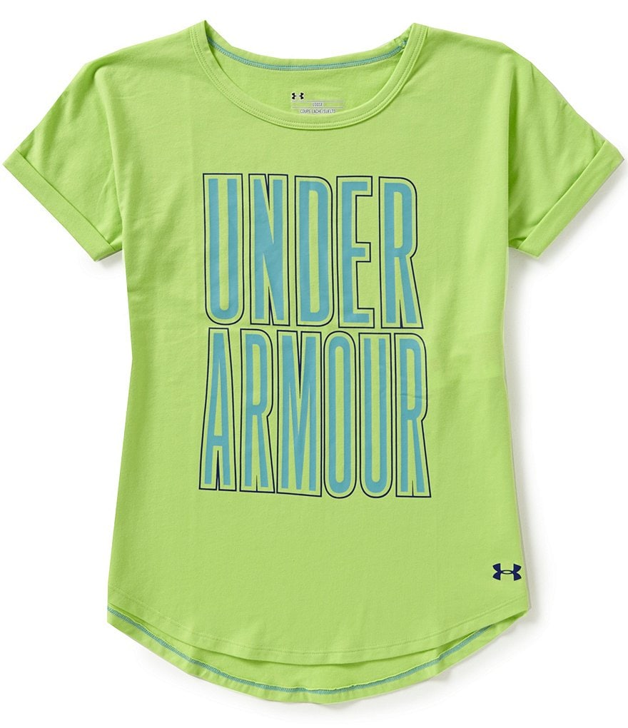 Under Armour Big GIrls 7-16 Dazzle Tee